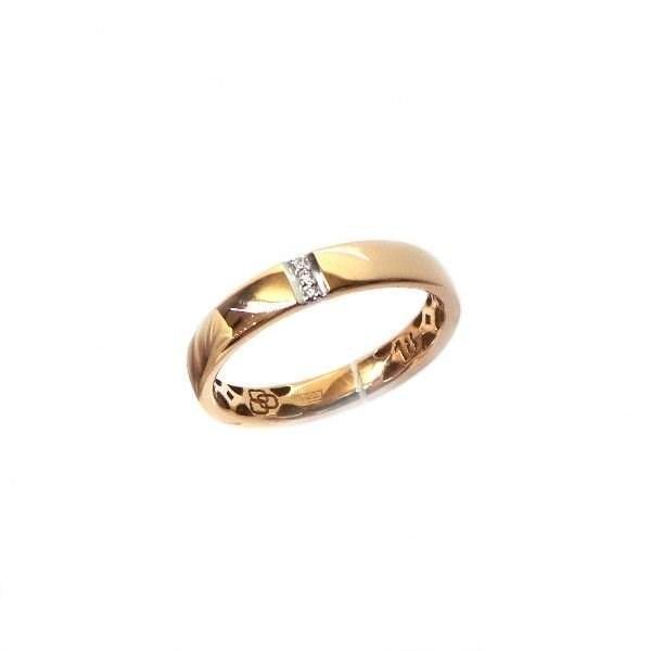Кольцо обручальное с бриллиантом - фото 4694