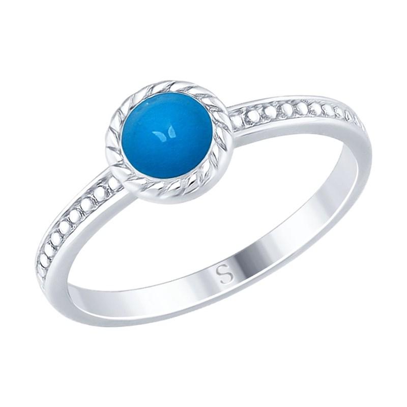 Кольцо из серебра с эмалью - фото 5242