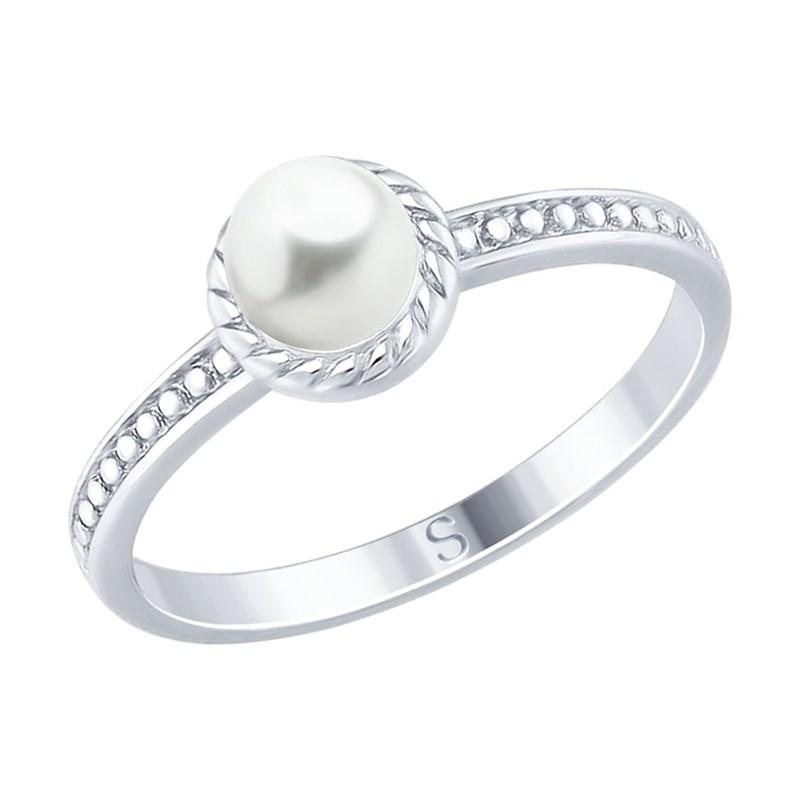 Кольцо из серебра с жемчугом - фото 5253