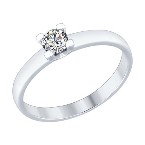 Кольцо из серебра со Swarovski Zirconia - фото 5255