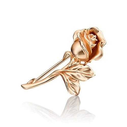 """Брошь """"Роза"""" из красного золота - фото 5405"""