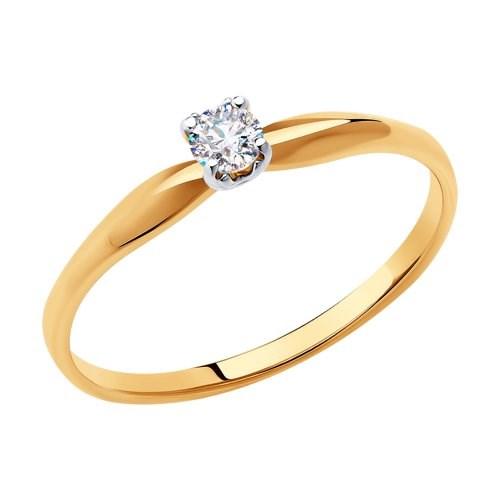 Кольцо из золота с фианитом - фото 5501