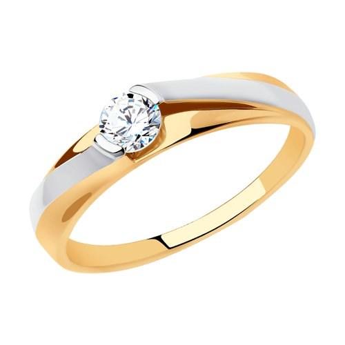 Кольцо из золота с фианитом - фото 5505