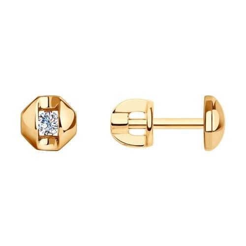 Серьги из золота с фианитами - фото 5516