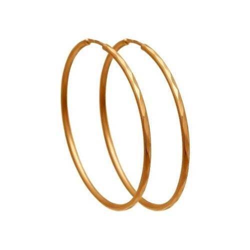 Серьги конго из золота с алмазной гранью - фото 5540