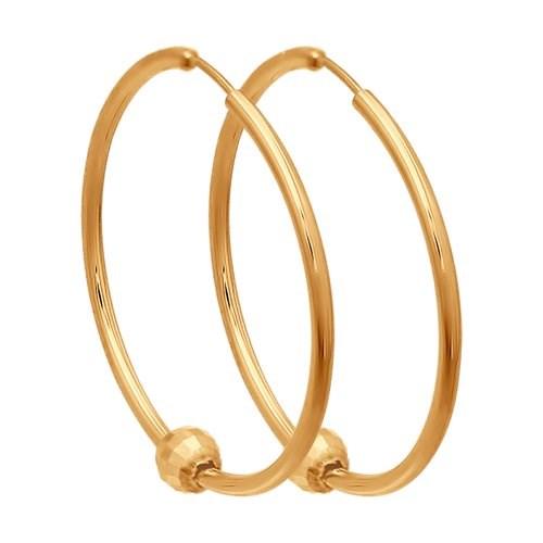 Серьги конго из золота - фото 5547