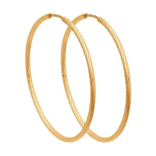 Серьги конго из золота с алмазной гранью - фото 5550