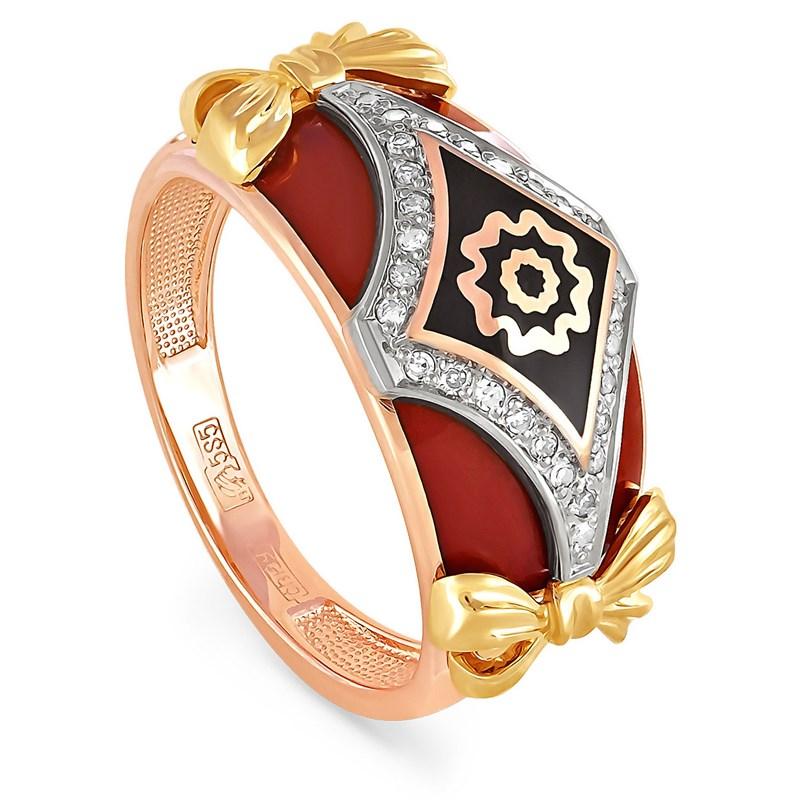Кольцо из золота с бриллиантами - фото 5577