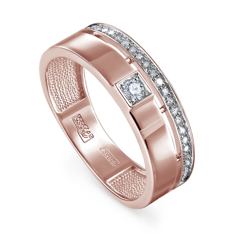 Золотое кольцо с бриллиантами - фото 5580
