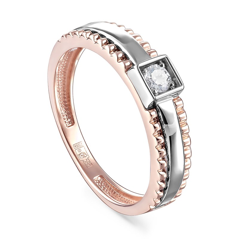 Кольцо из золота с бриллиантами - фото 5582