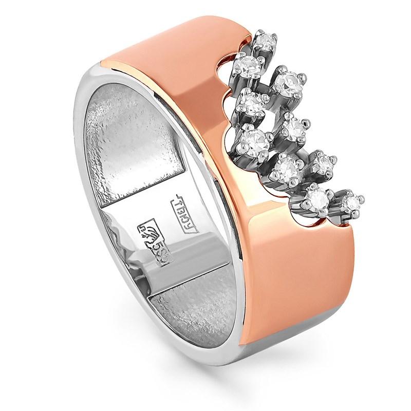 Кольцо из золота с бриллиантами - фото 5645