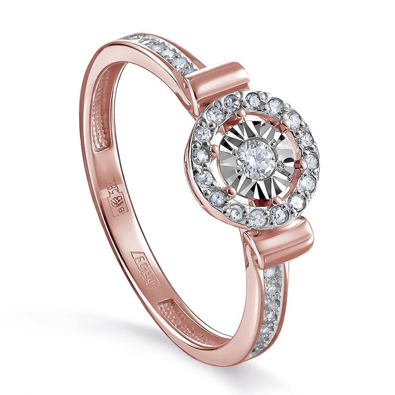 Кольцо из золота с бриллиантами - фото 5651