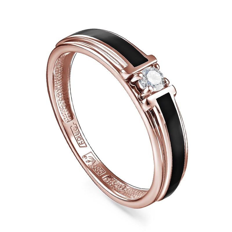 Кольцо из золота с холодной эмалью - фото 5653