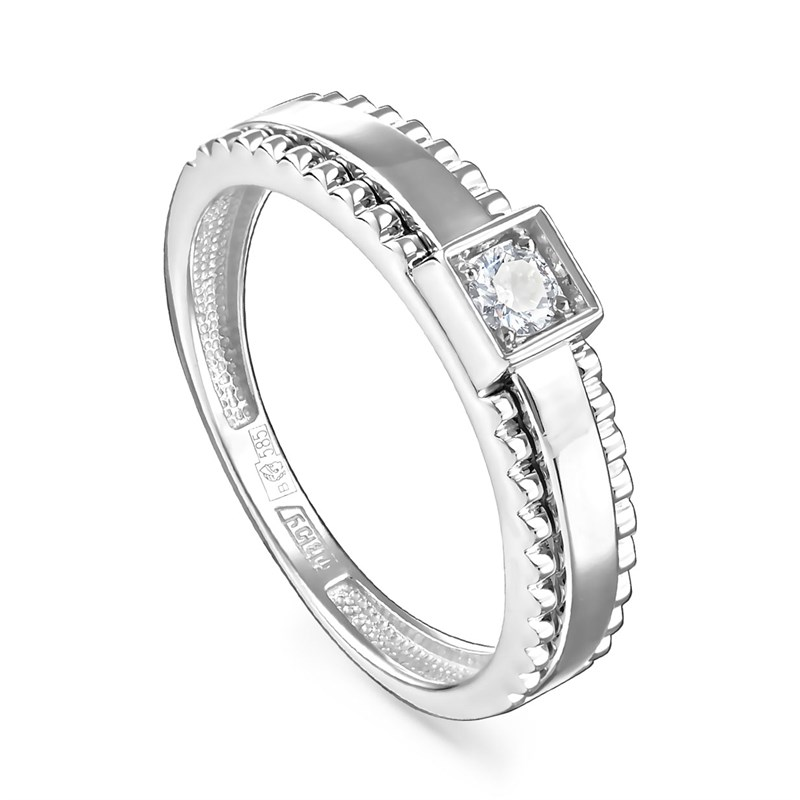 Кольцо из белого золота с бриллиантами - фото 5698