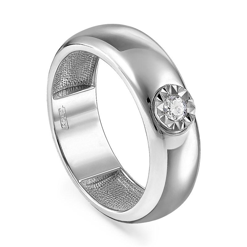 Кольцо из белого золота с бриллиантом - фото 5700