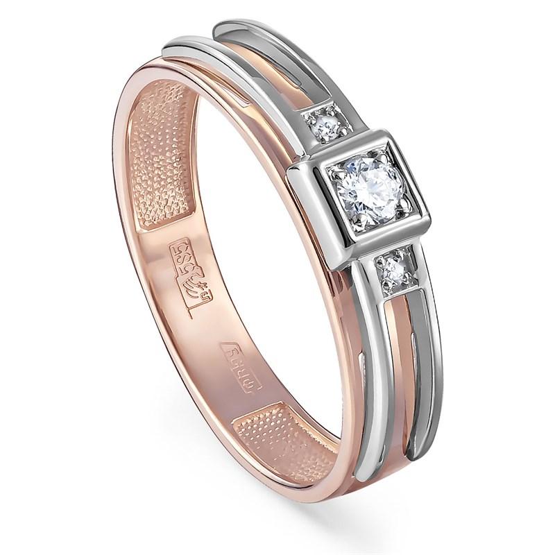 Золотое кольцо с бриллиантами - фото 5706