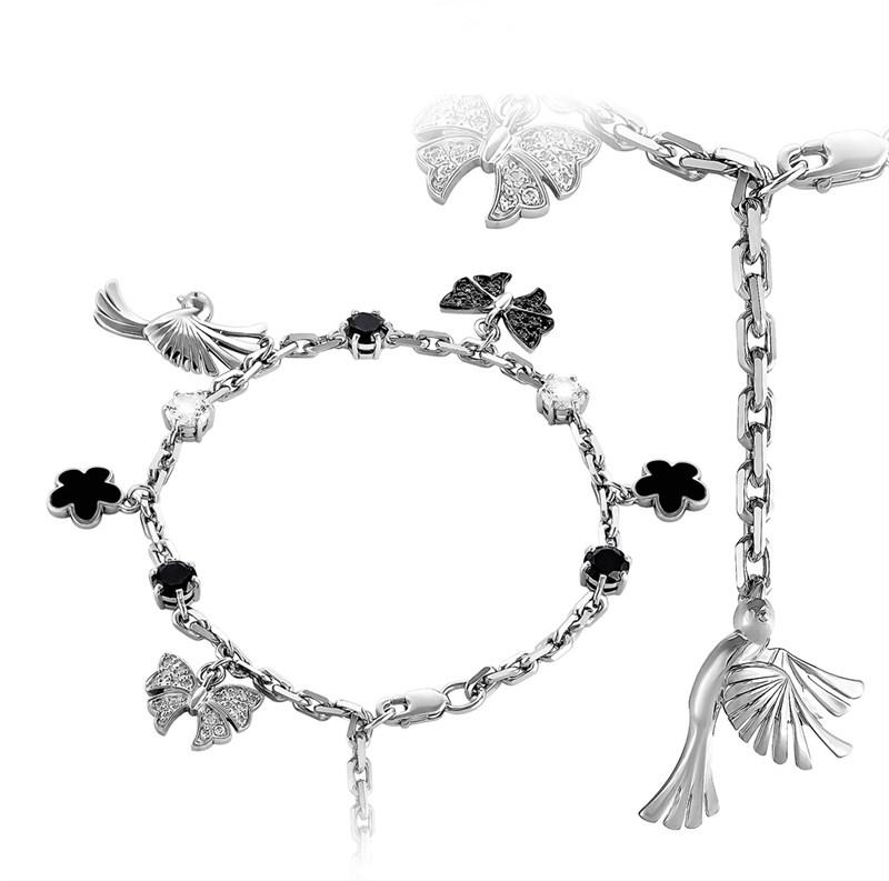 Браслет из серебра с холодной эмалью - фото 5718