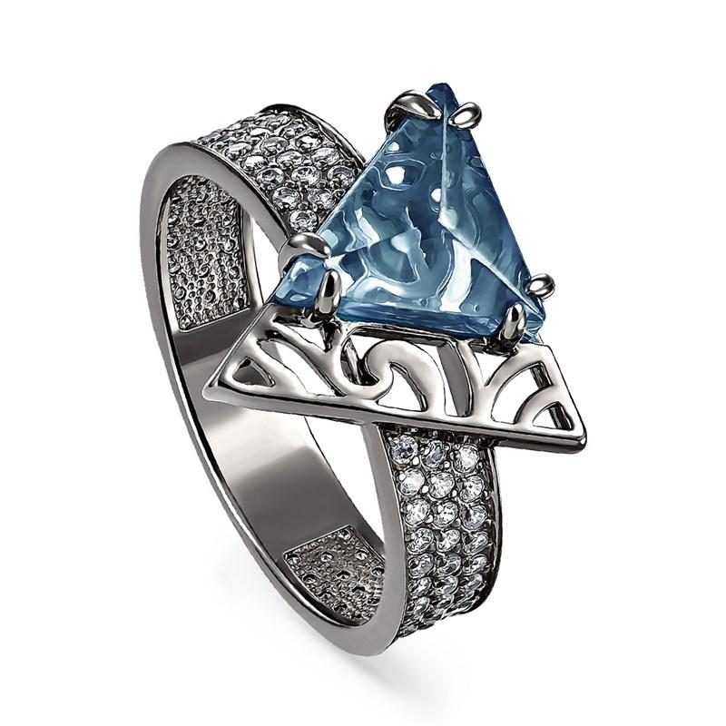 Кольцо из серебра с ситаллом - фото 5730