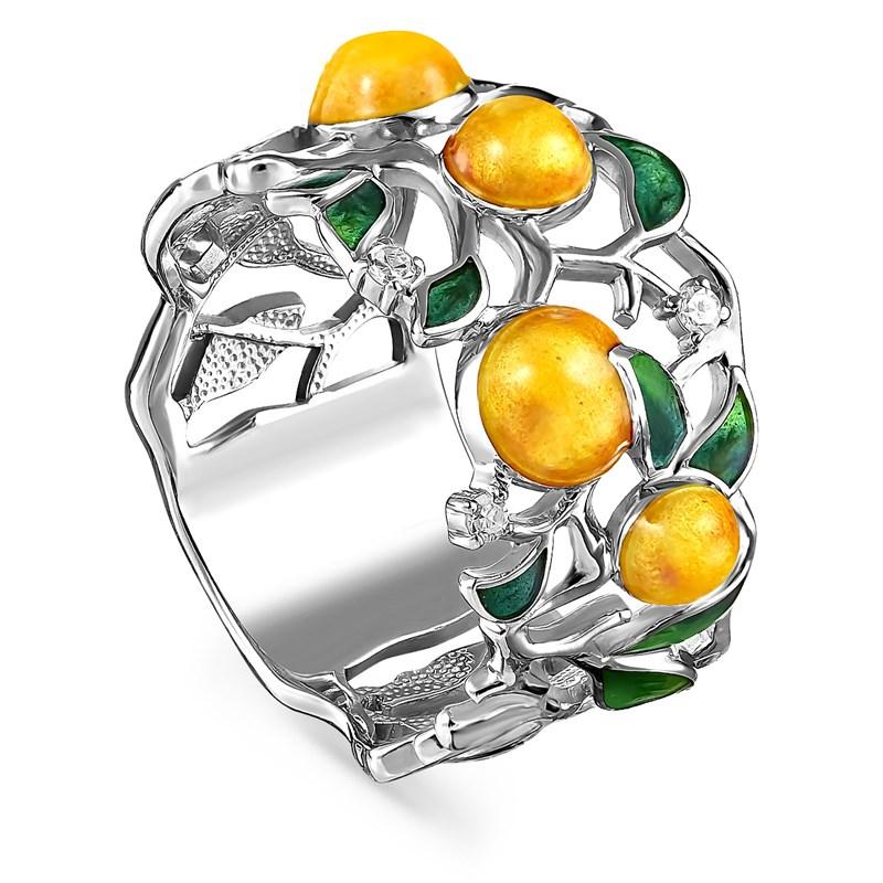 Кольцо из серебра с бриллиантами - фото 5738