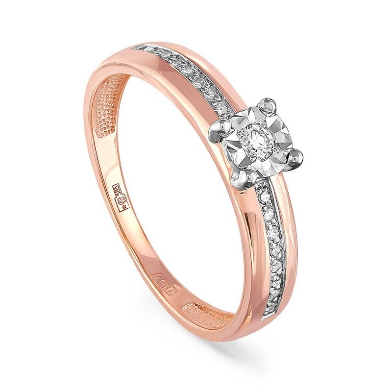 Кольцо из золота с бриллиантами - фото 5755