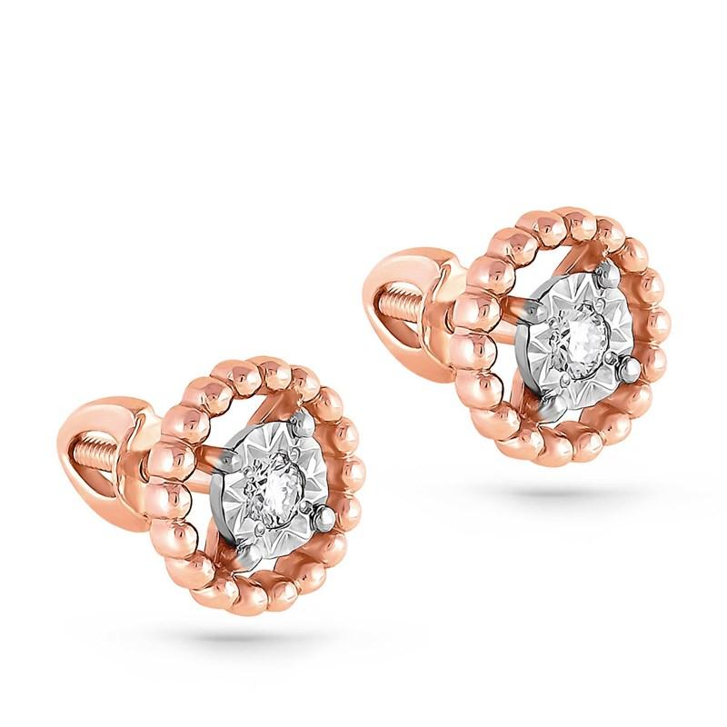 Серьги из золота с бриллиантами - фото 5767
