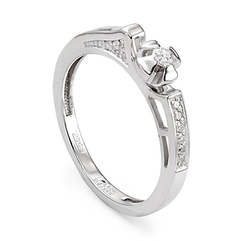 Кольцо из белого золота с бриллиантами - фото 5775