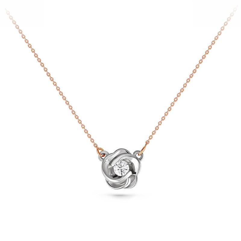 Колье из золота с бриллиантом - фото 5789