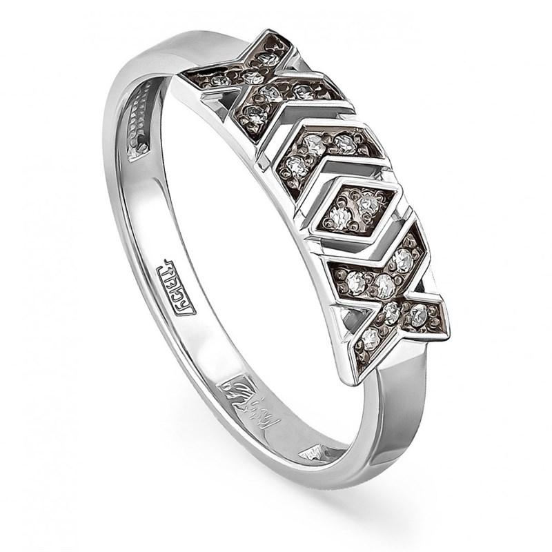 Кольцо из белого золота с бриллиантами - фото 5819
