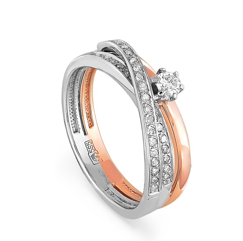 Помолвочное кольцо с бриллиантами - фото 5830