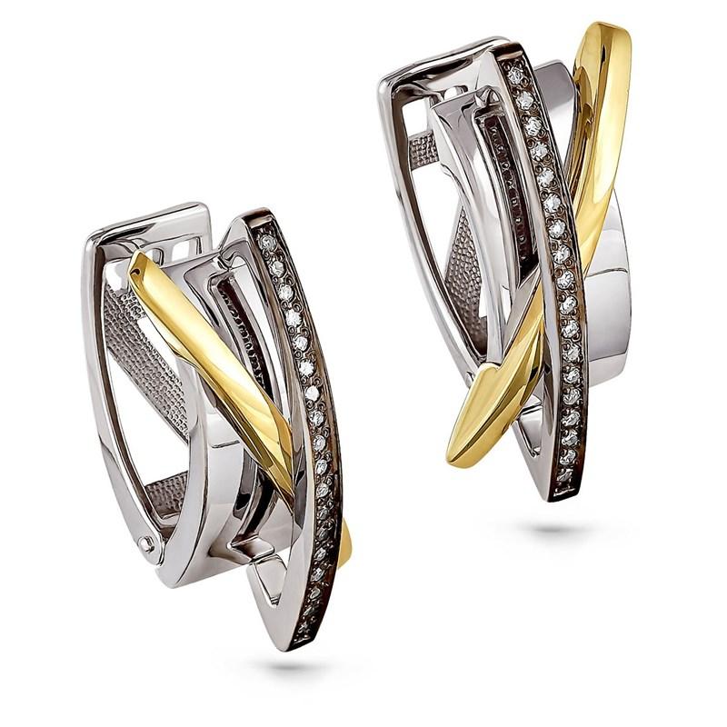 Серьги из золота с бриллиантами - фото 5836
