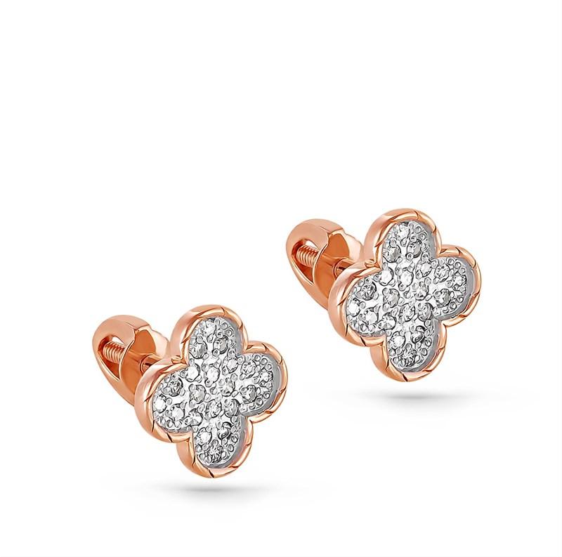Серьги из золота с бриллиантами - фото 5839