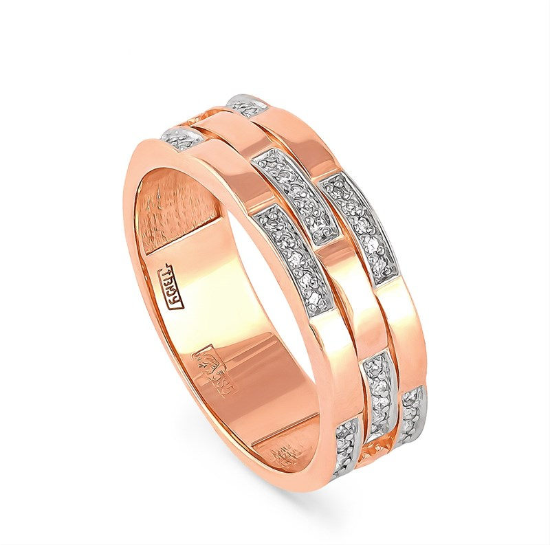 Золотое кольцо с бриллиантами - фото 5846