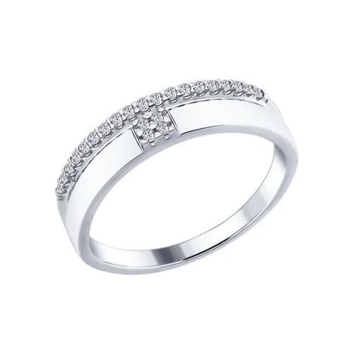 Кольцо из серебра с фианитами - фото 5853