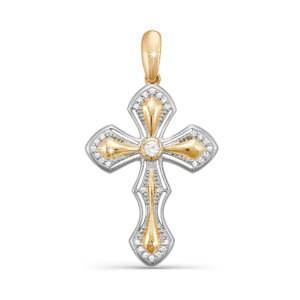 Подвеска крестик из золота