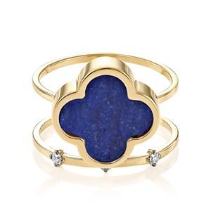 Кольцо из золота с лазуритом - фото 5634