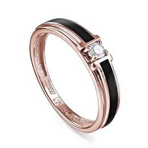 Кольцо из золота с холодной эмалью