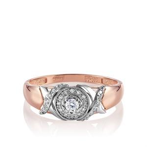 Золотое кольцо с бриллиантами - фото 5656