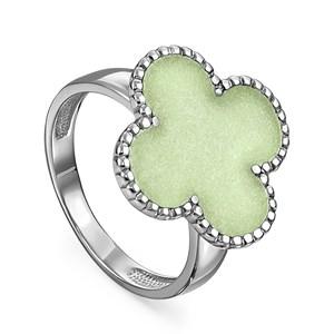 Серебряное кольцо с эмалью - фото 5744