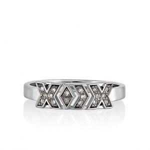 Кольцо из белого золота с бриллиантами - фото 5820