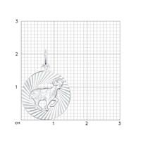 Подвеска «Знак зодиака Овен» из серебра - фото 5128