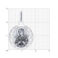 Серебряная иконка «Икона Божьей Матери Семистрельная» - фото 5174