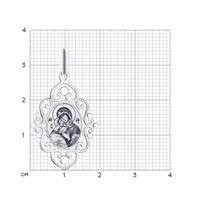 Иконка из серебра «Икона Божьей Матери Владимирская» - фото 5183
