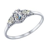 Кольцо из серебра с фианитами - фото 5203