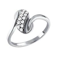 Кольцо из серебра с фианитами - фото 5237