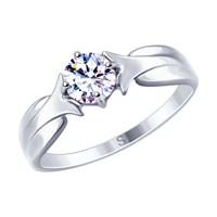 Кольцо из серебра с фианитом - фото 5258