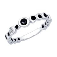 Кольцо из серебра с фианитами - фото 5270