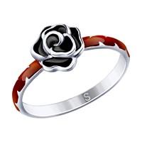 Кольцо из серебра с эмалью - фото 5275