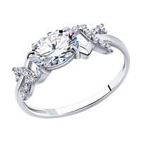 Кольцо из серебра с фианитами - фото 5277