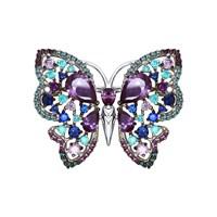 Брошь «Бабочка» с фианитами - фото 5322