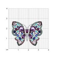 Брошь «Бабочка» с фианитами - фото 5323